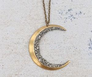 crescent moon necklace image