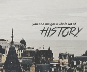 history, one direction, and Lyrics image