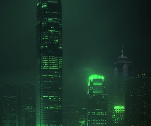green, aesthetic, and city image
