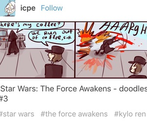 funny, star wars, and kylo ren image