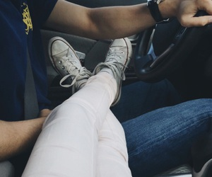 baby, converse, and couple image