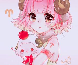 anime, anime girl, and aries image