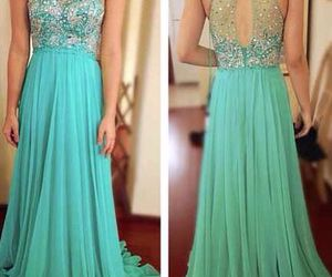 dress, prom dress, and long image