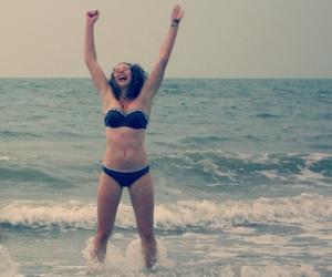 beach, gymnastics, and happy image