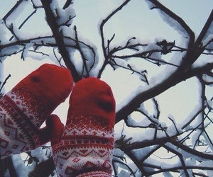snow, winter, and mittens image