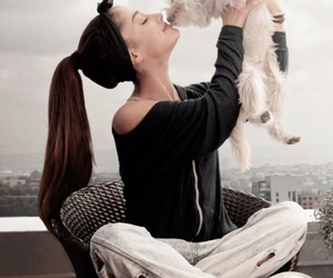 ariana grande, ariana, and dog image