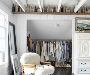 white, clothes, and closet image