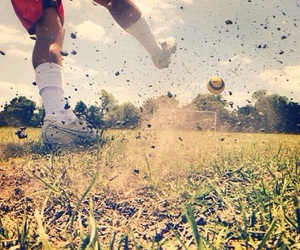 goals, soccer, and kick image