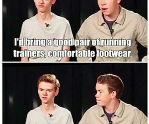 funny, the maze runner, and newt image