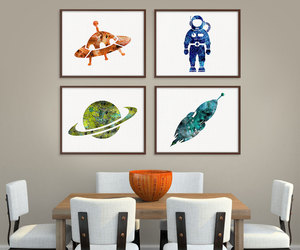art, astronaut, and etsy image