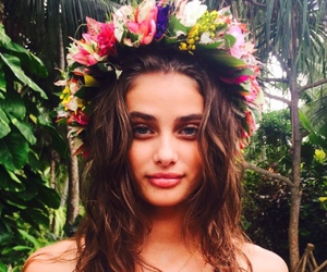 model, taylor hill, and flowers image