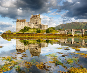 castle, scotland, and highland image