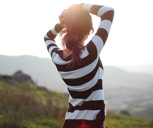 girl and stripes image