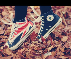 shoes, converse, and english flag image