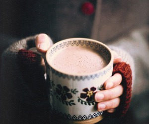 winter, coffee, and cold image