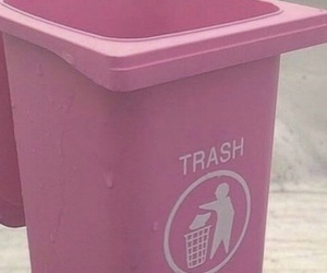 pink, trash, and aesthetic image