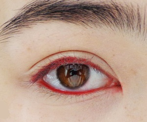 'red', 'make up', and 'eyes' image