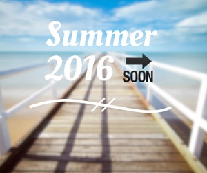 summer, 2016, and beach image