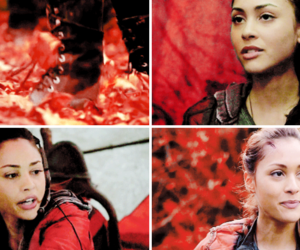 the 100, raven reyes, and red image