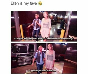 funny, ellen, and Taylor Swift image