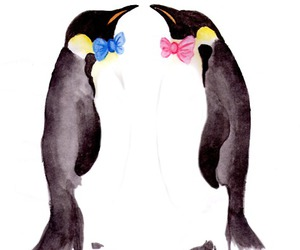penguin and penguin bow tie painting image