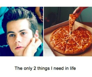 pizza, dylan o'brien, and teen wolf image