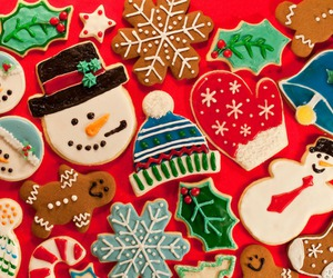 christmas, colors, and Cookies image