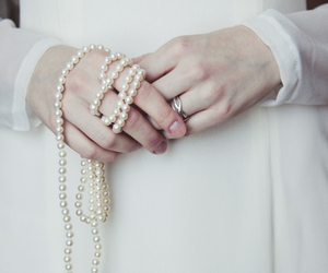 hands, ring, and white image