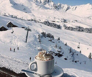 winter, coffee, and snow image