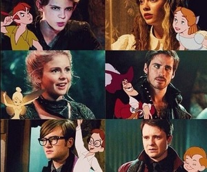 once upon a time, peter pan, and wendy image