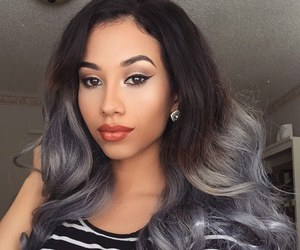 beauty, girls, and grey hair image