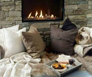 cosy, fireplace, and lovley image