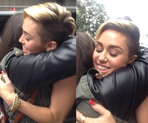 miley cyrus, smile, and fan image