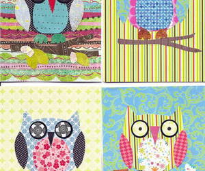 Collage, craft, and owl image