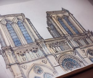 architecture, Paper, and art image