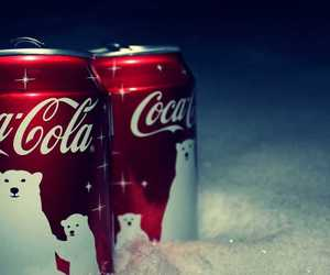 coca cola, snow, and christmas image