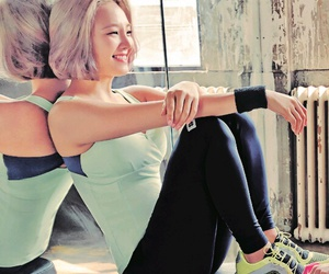 fitness, girls, and girls generation image