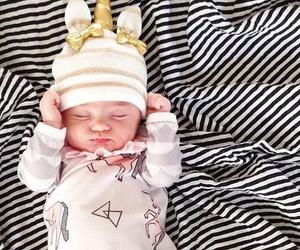 baby, cute, and unicorn image