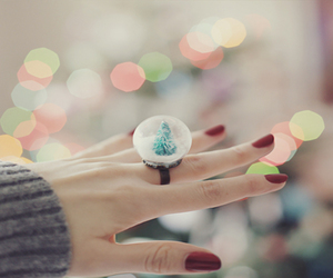 ring, christmas, and nails image