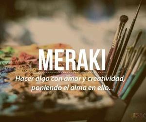 words, Meraki, and creativity image