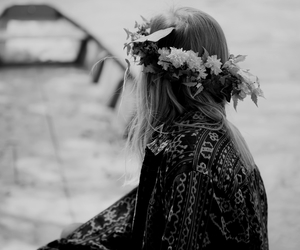 black, girl, and white image