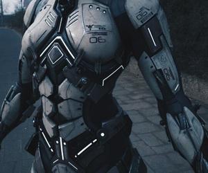 armor, cyberpunk, and future image