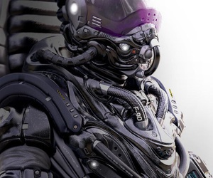 armor, cyber, and cyberpunk image