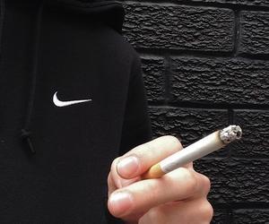 nike, smoke, and cigarette image