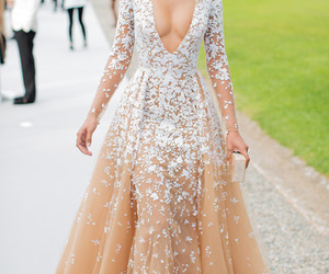 dress, Chanel Iman, and model image