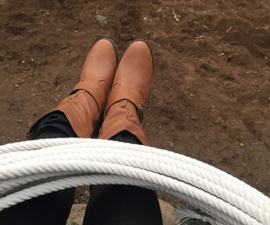boots, rancho, and brown image