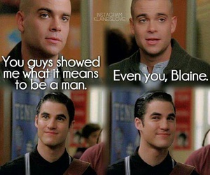 glee, blaine anderson, and mark salling image