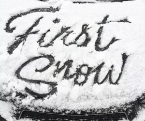 pretty, first, and snow image