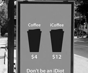 coffee, idiot, and apple image