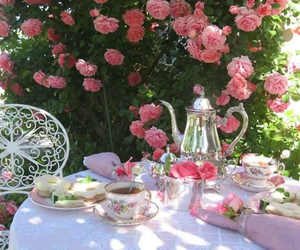 cups, flowers, and pink image